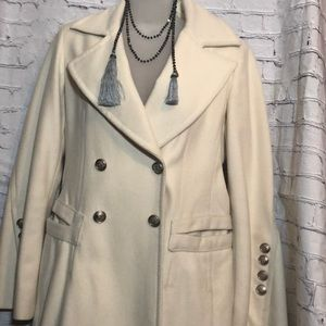 Laundry by Shelli Segal cream wool jacket size 8